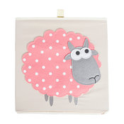 DII Polyester Kid Felt-Stitched Cube Sheep Square With Lid 13x13x13""