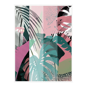 """In The Tropics"" Tropical Art Print, Print Only, 50x70 cm"