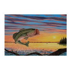 """Mike Bennett Bass Lake Art Print, 30""""x45"""""""