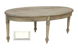 French Country Oval Coffee Table, White
