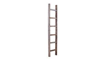 BarnwoodUSA Rustic Reclaimed Wooden Ladder, 6 Foot