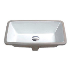 Hahn - Hahn Ceramic Medium Rectangular Bathroom Bowl UM, White - Bathroom Sinks