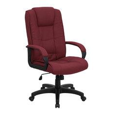 Flash Furniture Burgundy Fabric Executive Swivel Office Chair