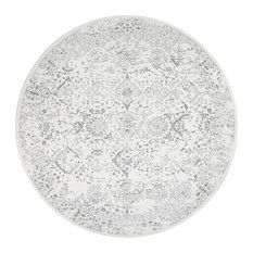 Costa Floral Rug, Ivory, 8' Round