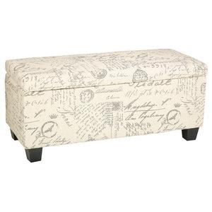 Fabulous Braque Cube Ottoman Beige Linen Script Print Fabic Short Links Chair Design For Home Short Linksinfo