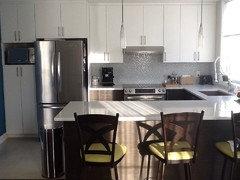 White vs Dark Kitchen cabinets