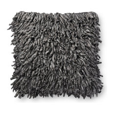 Loloi Charcoal Color 22  x22   Accent Pillow, Poly Fill