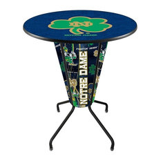 Lighted Notre Dame (Shamrock) Pub Table by Holland Bar Stool Company