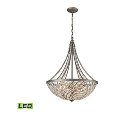 Elk Group International - Renaissance 6-Light LED Chandelier In Weathered Zinc - Chandeliers