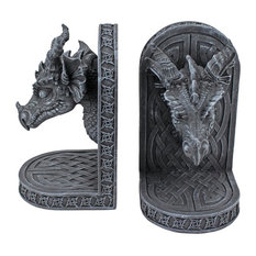 Grey Friar Dragon Bookends, Set of 2