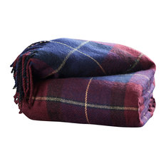 Cashmere-Like Blanket Throw, Red/Blue