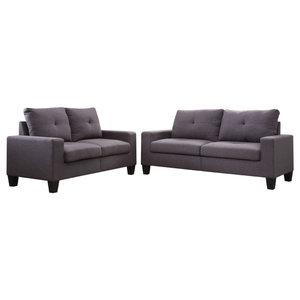 Awe Inspiring Gilmer Sofa Gunmetal 6560338 Transitional Sofas By Pdpeps Interior Chair Design Pdpepsorg