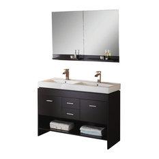 virtu usa inc 47 inch modern double sink bathroom vanity bathroom vanities and