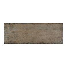 "8.25""x23.5"" Lambris Plank Porcelain Floor/Wall Tiles, Set of 8, Natural"