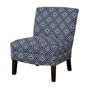 Hayden Slipper Accent Chair, Navy
