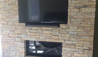 Recessed TV w/ Soundbar