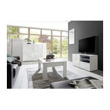 Dama (white) 1 door 1 drawer TV unit