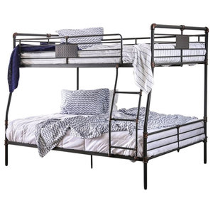 Focus Extra Long Full Over Queen Bunk Bed Transitional Bunk Beds By Totally Kids Fun Furniture Toys Houzz