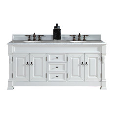 "72"" Double Vanity, Cottage White, No Counter Top"