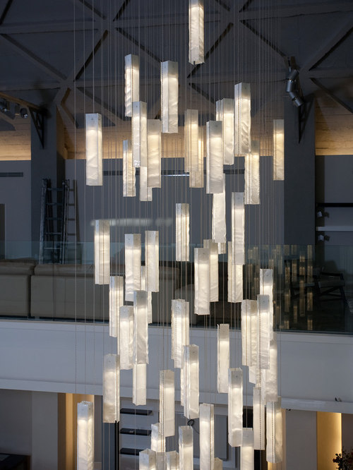 Contemporary foyer lighting modern entry chandelier for high modern foyer chandelier modern entry stairway lights for high ceiling foyer wh pendant mozeypictures Images