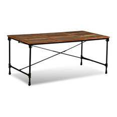 VidaXL Dining Table Solid Reclaimed Wood Vintage 70.9-inch Dining Room Kitchen