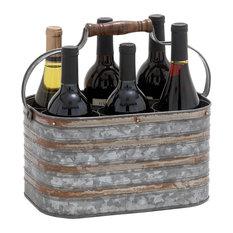 Brimfield & May - Metal Galvanize Bottle Holder - Wine Racks