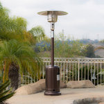 Belleze - 48,000BTU Patio Standing Heater, Propane, Auto Tilt Shutoff, Hammered Bronze - Take full advantage of that well-loved outdoor living space--from one season to the next--with help from this commercial patio heater. The exceptionally powerful gas patio heater delivers soothing warmth that makes it easy to keep guests comfortable, even when temperatures begin to dip. From el fresco-style dining on the back deck to swanky cocktail parties on the patio to sipping cocoa under a star-filled sky, the commercial patio heater offers the ultimate solution for anyone serious about year-round outdoor entertaining.