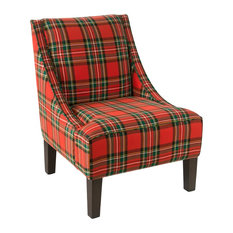 Swoop Arm Chair, Ancient Stewart Red