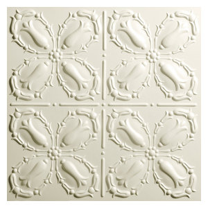"24""x24"" Orleans White Ceiling Tiles, Set of 5, Sand"
