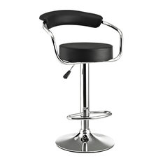 Diner Faux Leather Bar Stool Black