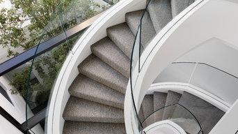 Spiral Glass Balustrade
