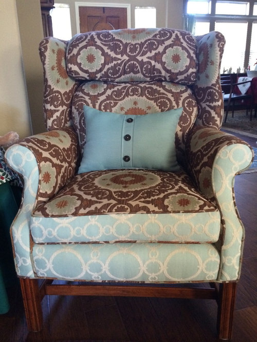 I Chose The Fabrics And Henry Perez Upholstery In San Antonio Tx Did Their Magic My Pas Loved It