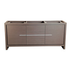 "Fresca Allier 72"" Gray Oak Modern Double Sink Bathroom Cabinet"