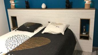 Meuble sur mesure - Tête de lit