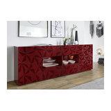 Prisma (red) 2 door 4 drawer sideboard