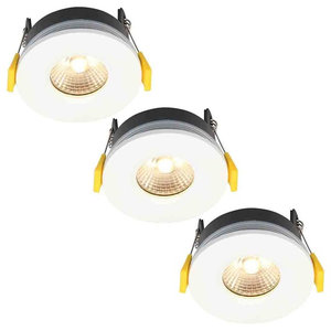 Stanley 3 Pack of Volta Recessed LED Fire Rated Downlighters, White