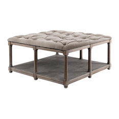 High Quality Brownstone   Lorraine Square Upholstered Cocktail Table   Coffee Tables