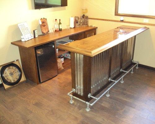 Industrial L Shaped Home Bar Design Ideas Renovations