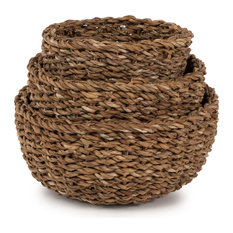 Seagrass Nested Round Bread Baskets, Set of 3