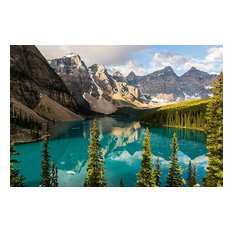 Majestic Canada Mountains and Forests Wallpaper Wall Mural, Self-Adhesive