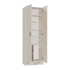 Vita Multi-use White 2 Door Wardrobe