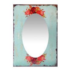 """Shabchic Country Mosaic Mirror, Garden, 27.5"""""""