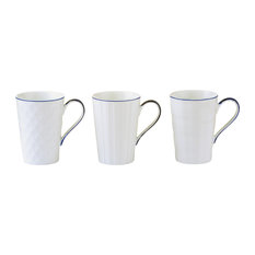 Set of 3 Lux Mugs by BIA, Blue