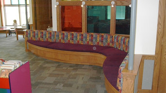 Childrens seating area at library
