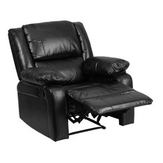 Pemberly Row Leather Recliner In Black