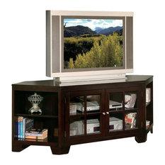 imports hampton 62 in corner tv stand in espresso finish centers