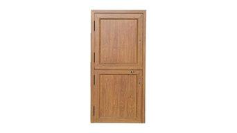 Interior puerta rustica partida