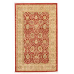 """Unique Loom - Unique Loom Edinburgh Adel Area Rug, Red, 3'3""""x5'3"""" - The classic look of the Edinburgh Collection is sure to lend a dignified atmosphere to your home. With an array of colors and patterns to choose from, there�s a rug to suit almost any taste in this collection. This Edinburgh rug will tie your home�s decor together with class and amazing style."""