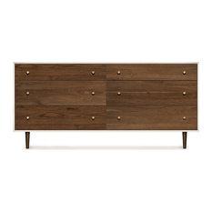 MiMo 6 Drawer Dresser By Copeland Furniture Bronze