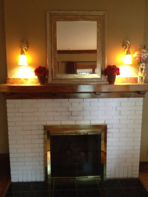 Restore Or Not Removing Paint From Fireplace Brick